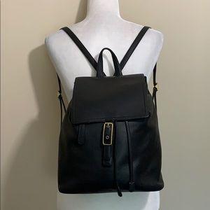 Coach Large Vintage Legacy Black Leather Backpack